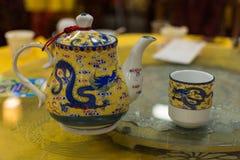 κινεζικό τσάι δοχείων φλ&upsilo Στοκ φωτογραφίες με δικαίωμα ελεύθερης χρήσης