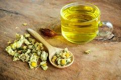 Κινεζικό τσάι χρυσάνθεμων παλαιό σε ξύλινο Στοκ εικόνα με δικαίωμα ελεύθερης χρήσης