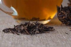 Κινεζικό τσάι Puer, κινηματογράφηση σε πρώτο πλάνο Στοκ Φωτογραφίες