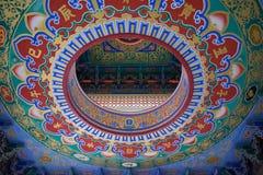 Κινεζικό υπόβαθρο σχεδίων ύφους ναών Στοκ φωτογραφίες με δικαίωμα ελεύθερης χρήσης