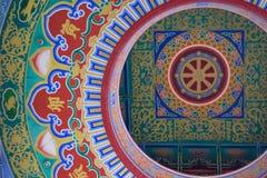 Κινεζικό υπόβαθρο σχεδίων ύφους ναών Στοκ Φωτογραφίες