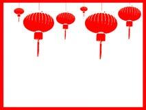 Κινεζικό υπόβαθρο φαναριών Στοκ φωτογραφία με δικαίωμα ελεύθερης χρήσης
