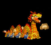 Κινεζικό φανάρι δράκων ύφους στο φεστιβάλ φαναριών Στοκ Φωτογραφία