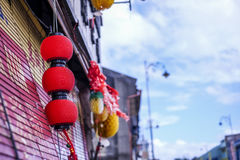 Κινεζικό φανάρι στην πόλη Στοκ εικόνα με δικαίωμα ελεύθερης χρήσης