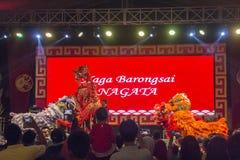 Κινεζικό φεστιβάλ δράκων σε Yogyakarta Στοκ Εικόνες
