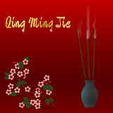 Κινεζικό φεστιβάλ της Qing Ming Jie του καθαρού φωτός Στοκ φωτογραφίες με δικαίωμα ελεύθερης χρήσης