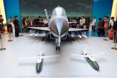 Κινεζικό (φ-10) αεριωθούμενο μοντέλο μαχητών j-10 Στοκ Φωτογραφίες