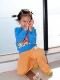 κινεζικό χαμόγελο παιδιώ& Στοκ Φωτογραφία