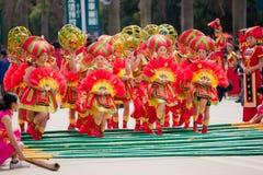 Κινεζικό χορεύοντας κορίτσι στο εθνικό φεστιβάλ Zhuang Στοκ φωτογραφία με δικαίωμα ελεύθερης χρήσης
