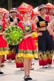 Κινεζικό χορεύοντας κορίτσι στο εθνικό φεστιβάλ Zhuang Στοκ Εικόνα