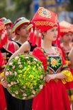 Κινεζικό χορεύοντας κορίτσι στο εθνικό φεστιβάλ Zhuang Στοκ Εικόνες