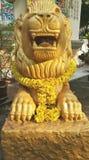 Κινεζικό χρυσό γλυπτό λιονταριών Στοκ Εικόνα