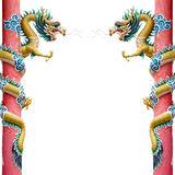 κινεζικό χρυσό δίδυμο δρά&kap Στοκ εικόνα με δικαίωμα ελεύθερης χρήσης