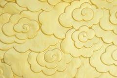 Κινεζικό χρυσό σύμβολο σύννεφων Στοκ Εικόνα