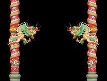 κινεζικό ύφος αγαλμάτων δράκων Στοκ φωτογραφία με δικαίωμα ελεύθερης χρήσης