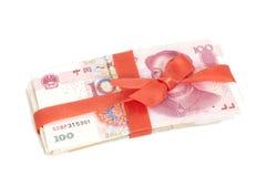 Κινεζικό δώρο χρημάτων Yuan Στοκ εικόνα με δικαίωμα ελεύθερης χρήσης