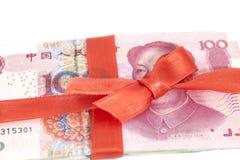 Κινεζικό δώρο χρημάτων Yuan Στοκ φωτογραφίες με δικαίωμα ελεύθερης χρήσης