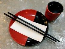 Κινεζικό Dinnerware εστιατορίων σύνολο Στοκ φωτογραφία με δικαίωμα ελεύθερης χρήσης