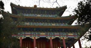 κινεζικό jingshan παλαιό περίπτερο πάρκων του Πεκίνου Κίνα Στοκ εικόνες με δικαίωμα ελεύθερης χρήσης