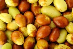 Κινεζικό jujubes υπόβαθρο φρούτων Στοκ Εικόνες
