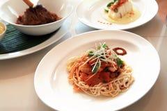 κινεζικό noodle καλαμάρι Στοκ Φωτογραφία