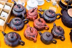 Κινεζικό teapot πορσελάνης Στοκ εικόνα με δικαίωμα ελεύθερης χρήσης