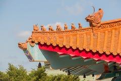 Κινεζικό tracery στεγών ναών Στοκ εικόνα με δικαίωμα ελεύθερης χρήσης