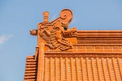 Κινεζικό tracery στεγών ναών Στοκ Εικόνα