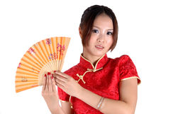 κινεζικό traditonal κοριτσιών ανε& Στοκ Φωτογραφία