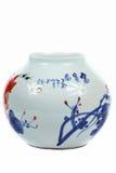 κινεζικό vase πορσελάνης Στοκ Φωτογραφίες