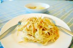 Κινεζικό vermicelli ανακατώνει τηγανισμένος Στοκ Εικόνα