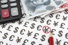 Κινεζικό Yuan (CNY/RMB) Στοκ εικόνα με δικαίωμα ελεύθερης χρήσης
