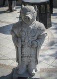 Κινεζικό Zodiac, άγαλμα χοίρων πετρών στη Σεούλ Στοκ Εικόνες
