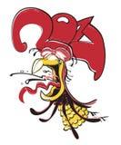 κινεζικό zodiac Ζωικό αστρολογικό σημάδι κόκκορας διάνυσμα Στοκ Φωτογραφίες