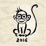 κινεζικό zodiac πιθήκων Στοκ Φωτογραφίες