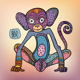 κινεζικό zodiac πιθήκων Στοκ Εικόνες