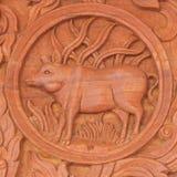 Κινεζικό zodiac χοίρων ζωικό σημάδι Στοκ Φωτογραφίες