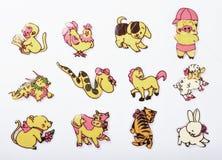 κινεζικό zodiac 12 κέικ Στοκ φωτογραφία με δικαίωμα ελεύθερης χρήσης