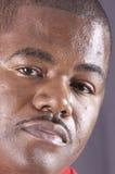 Κινηματογράφηση σε πρώτο πλάνο ενός αρσενικού αφροαμερικάνων Στοκ φωτογραφίες με δικαίωμα ελεύθερης χρήσης