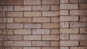 Κινηματογράφηση σε πρώτο πλάνο ενός εκλεκτής ποιότητας αναδρομικού τοίχου σχεδίων τούβλου σε στο κέντρο της πόλης Coeur δ ` Alene Στοκ φωτογραφία με δικαίωμα ελεύθερης χρήσης
