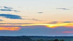 Κινηματογράφηση σε πρώτο πλάνο ηλιοβασιλέματος, χρόνος-σφάλμα απόθεμα βίντεο