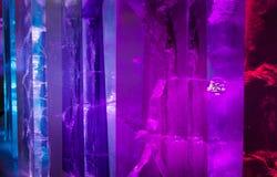 Κινηματογράφηση σε πρώτο πλάνο λεπτομερειών γλυπτών τέχνης πάγου στοκ φωτογραφία με δικαίωμα ελεύθερης χρήσης