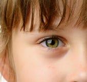 Κινηματογράφηση σε πρώτο πλάνο ματιών παιδιών στοκ φωτογραφία με δικαίωμα ελεύθερης χρήσης