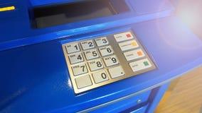 Κινηματογράφηση σε πρώτο πλάνο μηχανών του ATM Στοκ Φωτογραφία