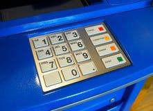Κινηματογράφηση σε πρώτο πλάνο μηχανών του ATM Στοκ Φωτογραφίες