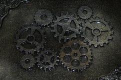 Κινηματογράφηση σε πρώτο πλάνο μιας χειροποίητης κασετίνας steampunk Στοκ φωτογραφία με δικαίωμα ελεύθερης χρήσης