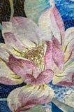 Κινηματογράφηση σε πρώτο πλάνο μωσαϊκών Lotus στοκ φωτογραφίες