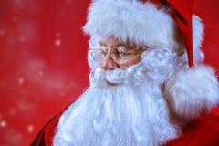 Κινηματογράφηση σε πρώτο πλάνο παραδοσιακό Santa στοκ εικόνα