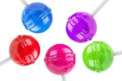 Κινηματογράφηση σε πρώτο πλάνο στα lollipops στοκ εικόνα με δικαίωμα ελεύθερης χρήσης