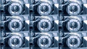 Κινηματογράφηση σε πρώτο πλάνο συναρμογών άλεσης απόθεμα βίντεο